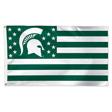 Michigan State University / Stars and Stripes NCAA Flag - Deluxe 3' X 5'