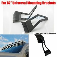 Universal Fit Curved Straight LED Light Bar Mounting Brackets Holder