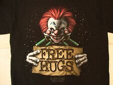 "Killer Klowns From Outer Space ""Free Hugs"" Scary Horror Movie Black T Shirt S"