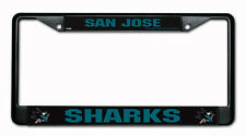 San Jose Sharks Black Metal License Frame [NEW] Chrome NHL Car Plate Tag CDG
