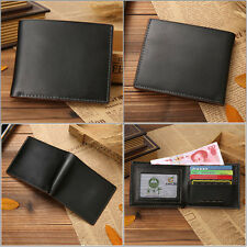 Men Black Business Leather Wallet Pocket Card Holder Clutch Bifold Slim Purse C0
