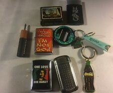 Non Junk Drawer Lot Lighters Golden Casino Marlboro Coca-Cola Keychains