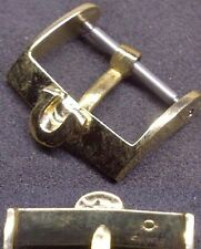 "Original Omega Buckle ""Ω"" Buckle Fibbia 16mm inner Yellow Gold Plated L@@K ! !!"