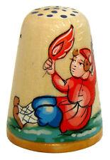Oiseau de feu Dé à coudre collection, Dé coudre Russe en bois peint Conte russe