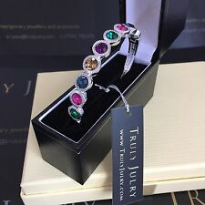 Luxurious Designer Bangle With Multicoloured Crystal Elements - Gift Packaged
