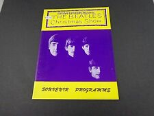 *  BEATLES CHRISTMAS SHOW reproduction souvenir programme book