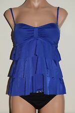 NWT Kenneth Cole Swimsuit Tankini 2pc Set OCN Ruffled Removable Straps Sz S