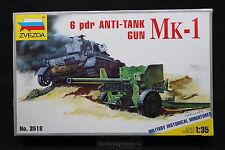 XV108 ZVEZDA 1/35 maquette tank char 3518 Mk-1 6 pdr Anti Tank Gun