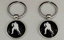 New Ice Hockey Player Design Keyring,Size 28mm Diameter @ Only £4.50p Each !