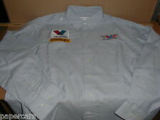 Valvoline Oil Stanley Tools Large New Nascar Racing Team Shop Crew Shirt LS Mens