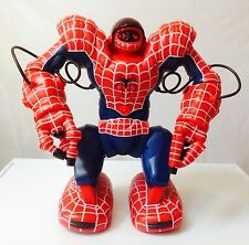 "SPIDERSAPIEN 2004 Spiderman 14"" RC AI Robot Guard WowWee Sound Light (VERY RARE)"