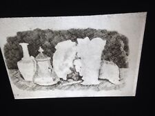 "Giorgio Morandi ""Still Life Etching"" Italian Realism Art 35mm Glass Slide"