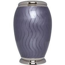 Purple - Bronze Funeral Cremation Urn,  Adult, 200 cubic inches