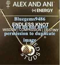 SALE!! Alex and Ani Sacred Stud Endless Knot Necklace Gold Plated - Discontinued