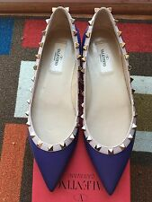 VALENTINO Rockstud Ballerina Flat (Women) in Purple [IT38/US8]