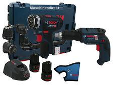 Bosch Akku Bohrschrauber GSR 12V-15 FC FlexiClick + GSR 10,8V-EC TE Bauschrauber