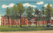 ERIE PA SOLDIERS AND SAILORS HOME POSTCARD c1940s