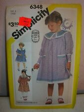 Cute Simplicity GUNNE SAX Vintage Dress Pattern Girl's Size 3 Uncut FF
