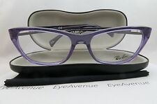 Ray-Ban RB 5298 5230 Clear Purple New Authentic Eyeglasses 55/17/140mm w/Case