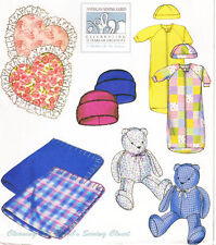 McCall Baby Bunting Blanket Pillow Bear American Guild Sewing Pattern UNCUT 4168