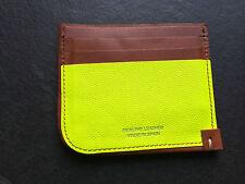 Paul Bronceado De Cuero Amarillo Fluorescente & Smith 8x tarjeta de crédito o de negocios Cartera