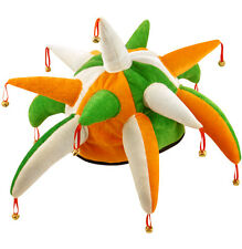 Fancy Dress Irish Jester Hat Eire Green White Orange St Patricks Day Ireland
