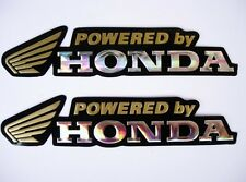 3D gold / chrome HONDA stickers decal - set of 2 pieces