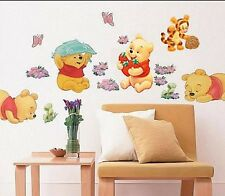 Winnie The Pooh Wall Stickers Nursery Boy kids baby Room Art Wall Decals Decor