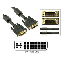 6FT 1.8M DVI-I Dual Link (24+5) Male to Male Digital/Analog Video Cable Ferrites