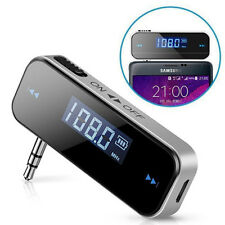 Wireless FM Transmitter 3.5mm Radio Adapter Car Charger for Samsung Galaxy S3 S4