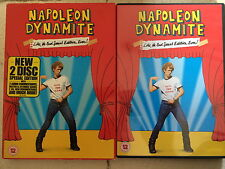 Jon Heder NAPOLEON DYNAMITE ~ 2004 Cult Commedia ~ 2-Disc UK DVD Con Custodia