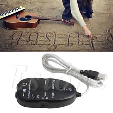 Guitar to USB Interface Link Audio Cable Adapter for PC MAC Recording Record