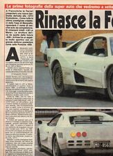 SP55 Clipping-Ritaglio 1987 Test Rinasce la Ferrari LM Le Mans