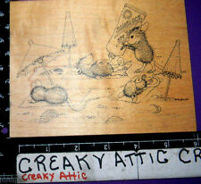 HOUSE MOUSE CATCHIN THE RAYS RUBBER STAMP STAMPA ROSA 300 LAYING IN THE SUN