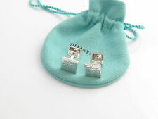 Tiffany & Co Silver Notes Square Cuff Link Cufflink Cufflinks!