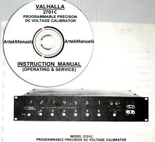 Valhalla 2701C DC Voltage Calibrator Operating & Service Manual