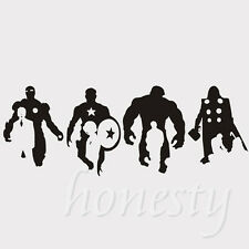 Iron Man Hulk Thor Captain America Car Sticker Window Black Vinyl Decal Sticker
