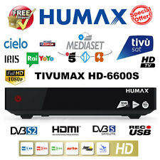 Tivusat Humax Tivumax HD-6600S USB PVR Decoder + Tivusat Viewing Card *