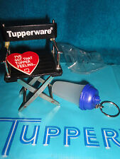 NEW VINTAGE TUPPERWARE BLUE QUICK SHAKE KEY CHAIN GADGET PILLS, SEWING, CONTACTS