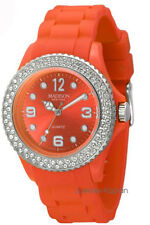 Madison New York Juicy Glamour   U4101E5 Damen Uhr Silikon Mädchenuhr orange neu