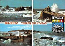 BR8438 Biarritz Tempete sur L'Ocean   france