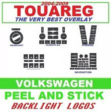2004-2009 VW Touareg AC Radio Steering Headlight Window Switch Button Decals