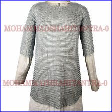 Medieval Aluminium Chainmail Shirt Butted Chain Mail Role Play Armour XL Size