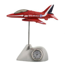 RAF Red Arrows Plane Miniature Desk Clock Royal Air Force Collectable Gift