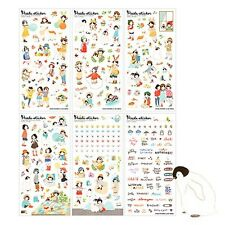 Heeda Sticker Korean Diary Stickers Korea Girl Ponybrown Transparent Stationary