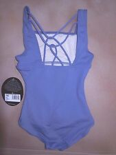 NWT CAPEZIO Camisole Cotton Spandex Leotard Small child french blue pretty back
