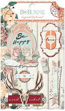 Bo Bunny Bella Rosa Collection Layered Chipboard Stickers BoBunny  2016