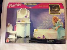 1996 Barbie BATHROOM SET (Folding Pretty House) SEALED MATTEL