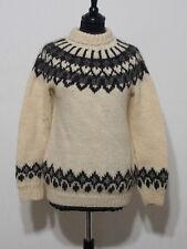 Island Norweger Damen Pullover Grösse S Schurwolle Handarbeit G945