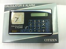 Citizen Dual Time Analogue Travel Alarm with Calculator  , Black